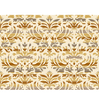 Seamless abstract floral damask background beige vector image