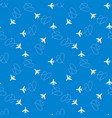 seamless aircraft pattern vector image