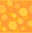 seamless background pattern of honeycomb vector image