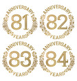 set of golden anniversary emblems vector image vector image