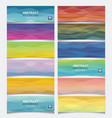 set of horisontal banners with bstract wave vector image vector image