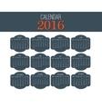 Simple Calendar 2016 Abstract calendar for 2016 vector image vector image