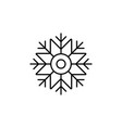 snowflake icon christmas and winter theme simple vector image vector image