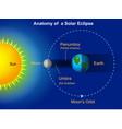 solar eclipse diagram vector image