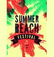 summer beach festival typographic grunge poster