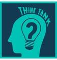Think tank print vector image vector image