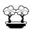 trees game icon vector image