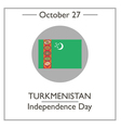turkmenistan independence day vector image vector image