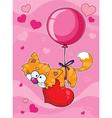 valentines kitten vector image vector image