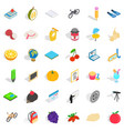 vegetable icons set isometric style vector image vector image