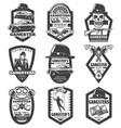 vintage mafia emblems set vector image vector image