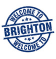welcome to brighton blue stamp vector image vector image