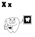 X-ray cartoon with letter vector image vector image