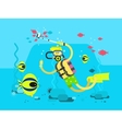 Diver character flat design vector image