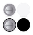 black and white pin set vector image