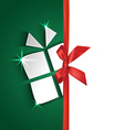 paper gift box greeting card vector image