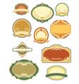 vintage labels set 1 vector image