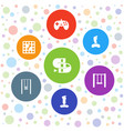7 games icons vector image vector image