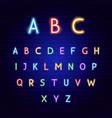 abc neon alphabet