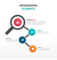 abstract magnifying glass business infographics vector image