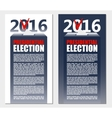 American Election 2016 background Poster or vector image vector image