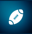 american football ball icon on blue background vector image vector image