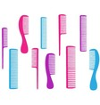 barbershop set of colorful comb vector image vector image
