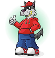 Big Bad Wolf Cartoon Character vector image vector image
