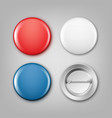 blank colored badges vector image