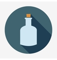Bottle icon with long shadow vector image