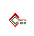 c letter icon for computer store vector image vector image