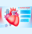 cardio medical template vector image