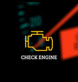 check engine light vector image
