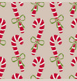 christmas seamless pattern of candy canes bright vector image