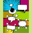 comic book pop art vertical back vector image vector image