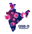 coronavirus covid19 outbreak in country india vector image vector image