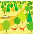 countryside forest hills and pathway vector image vector image