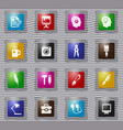 creative process glass icons set vector image