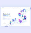 customer journey banner buying process map vector image
