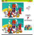 differences game with spooky halloween characters vector image vector image