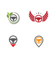 driver icon template vector image
