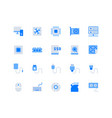 electric component simple flat icons vector image