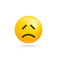 emoji smile icon symbol sad face yellow cartoon vector image vector image