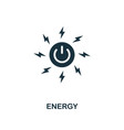 energy icon creative element design from vector image vector image