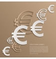 euro signs background vector image
