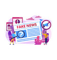 fake news concept vector image