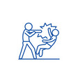 fight line icon concept fight flat symbol vector image vector image