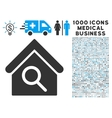 Find Building Icon with 1000 Medical Business vector image vector image
