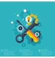 Flat repair icon Mechanic service concept Web vector image vector image