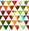 Geometric pattern of triangles shapes Colorful vector image